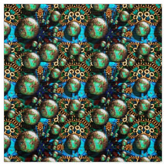 Steampunk Gears Fabric Design by Artful Oasis