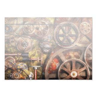 Steampunk - Gears - Inner Workings 13 Cm X 18 Cm Invitation Card