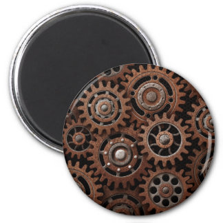 Steampunk Gears 6 Cm Round Magnet