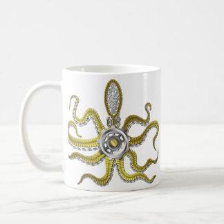 Steampunk Gears Octopus Kraken Mugs