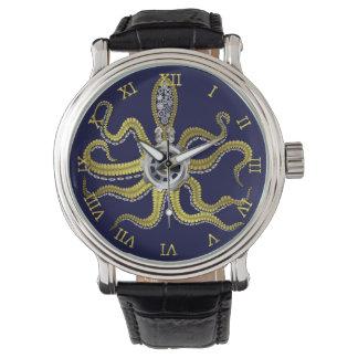 Steampunk Gears Octopus Kraken Wrist Watch