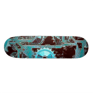 steampunk,gears skate board decks