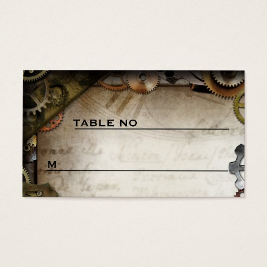 Steampunk Gears Victorian Guest Placecards Business Card