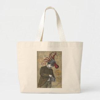 Steampunk Gentleman Tote Jumbo Tote Bag