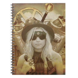 Steampunk Girl Hardcover Notebook