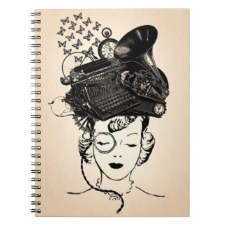 Steampunk Girl Note Books
