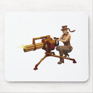 Steampunk Girl with Gun Mouse Mat