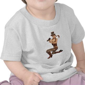 Steampunk Girl with Gun Tshirts