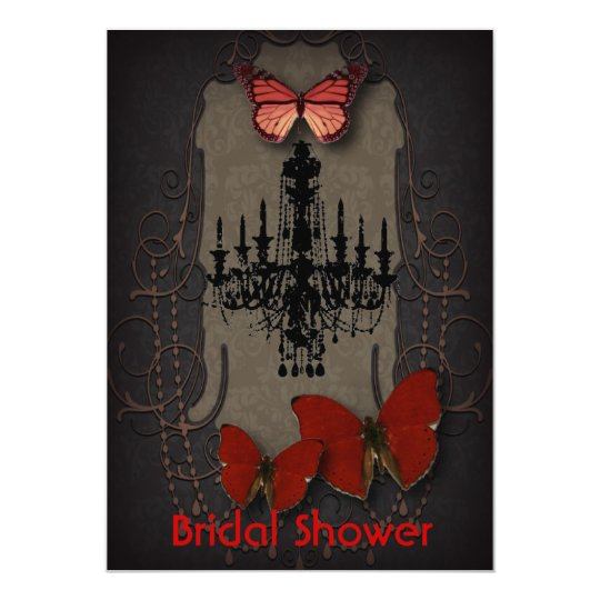 steampunk goth butterfly paris vintage chandelier card