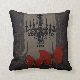 steampunk goth butterfly paris vintage chandelier cushion