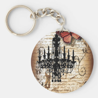 steampunk goth butterfly paris vintage chandelier key ring