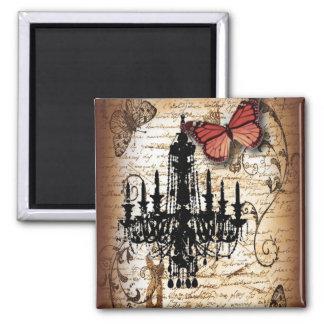 steampunk goth butterfly paris vintage chandelier magnet
