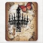 steampunk goth butterfly paris vintage chandelier mouse mat