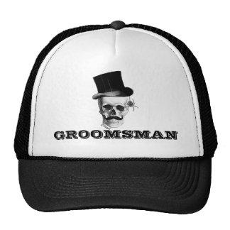 Steampunk gothic groomsman trucker hat