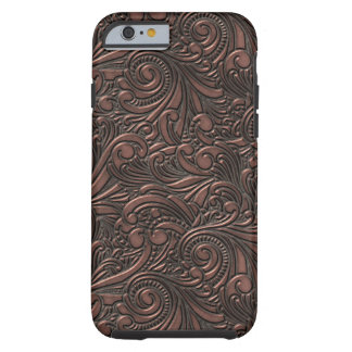 Steampunk Grunge Cool Science Fiction Copper Swirl Tough iPhone 6 Case