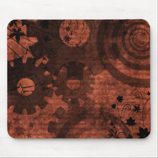 Steampunk Grunge Gears and Swirls Mouse Pad