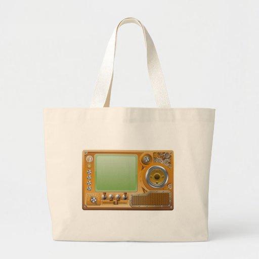Steampunk grunge media player canvas bags