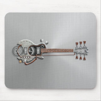 Steampunk Guitar on Steel Mouse Mat