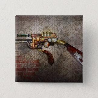 Steampunk - Gun - The sidearm 15 Cm Square Badge