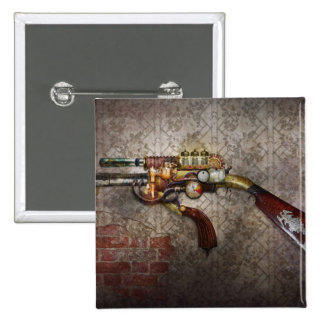 Steampunk - Gun - The sidearm 15 Cm Square Badge