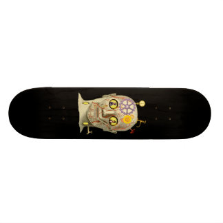 Steampunk Head Design Skate Board Deck