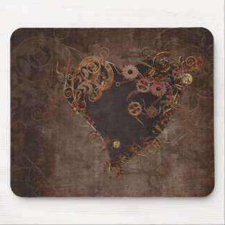 Steampunk Heart Mouse Pad