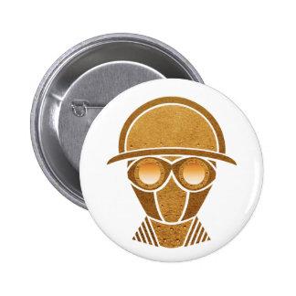 Steampunk Helmet & Mask 6 Cm Round Badge