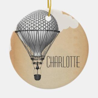 Steampunk Hot Air Balloon Christmas Ornament