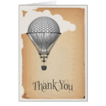 Steampunk Hot Air Balloon Wedding Thank You