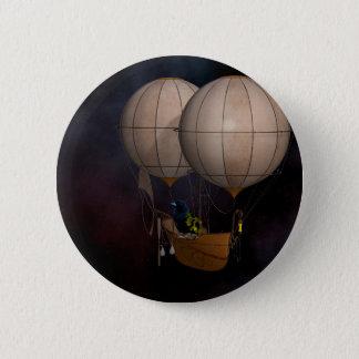 Steampunk Hot Air Baloon 6 Cm Round Badge