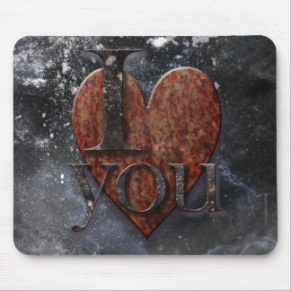 Steampunk I Love You Valentine Mouse Pad