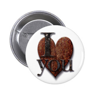 Steampunk I Love You Valentine Pinback Buttons