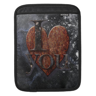Steampunk I Love You Valentine Sleeves For iPads