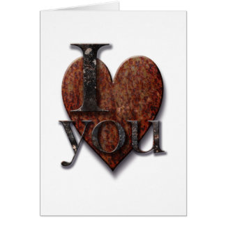 Steampunk I Love You Valentine's Day Heart Greeting Card