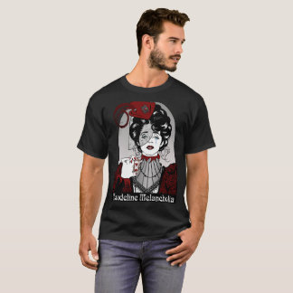 Steampunk Illustration Maudeline Melancholia blk T-Shirt