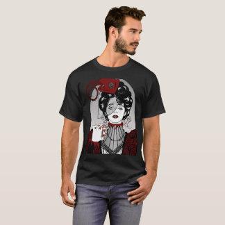 Steampunk Illustration Victorian Lady black shirt