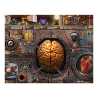 Steampunk - Information overload Full Color Flyer