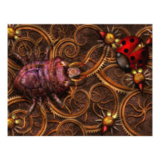 Steampunk - Insect - Itsy bitsy spiders Personalized Flyer
