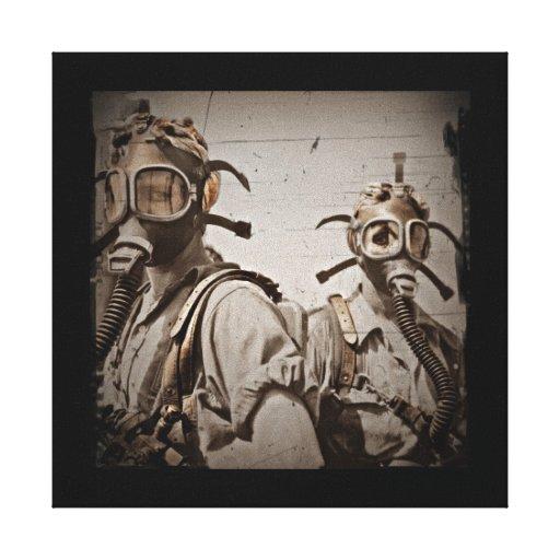 Steampunk Inspired Gas Masks Canvas Print