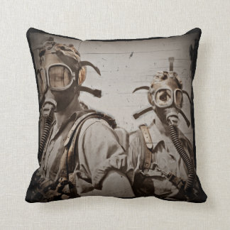 Steampunk Inspired Gas Masks Cushion