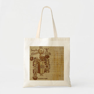 Steampunk Inventor's Budget Tote Bag