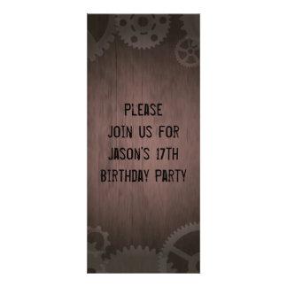 Steampunk invitations to personalize