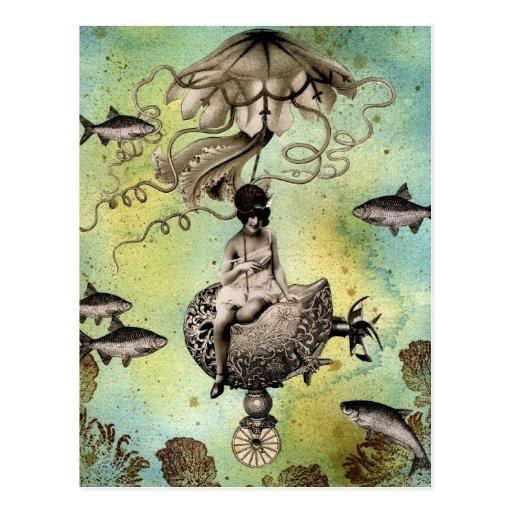 Steampunk Jellyfish Postcards