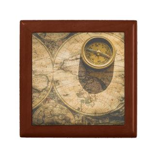 Steampunk Jewelry Box with Navigational Compass