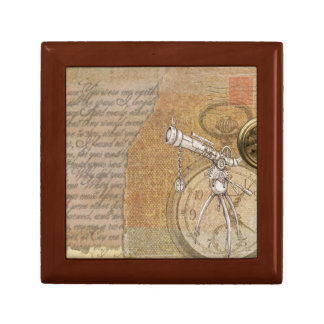 Steampunk Jewelry Box with Telescope