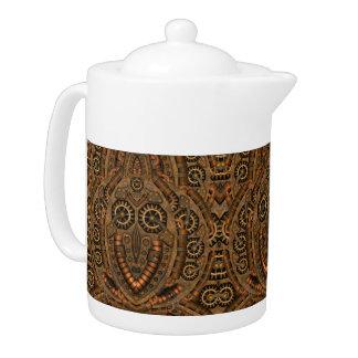 Steampunk  Kaleidoscope    Pattern  Teapots
