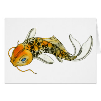 Steampunk Koi Card