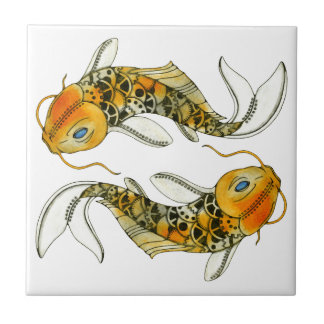 Steampunk Koi Tile
