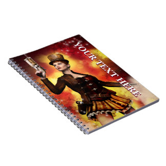 Steampunk Lady Notebook