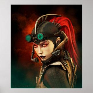 Steampunk Lady Poster